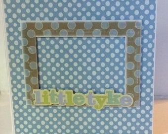 Baby boy scrapbook baby mini album 8x8