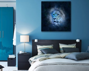 Lion - Animal Canvas Print Wall Art / Stretched or Rolled / Available in 1, 3, and 5 Panel Versions