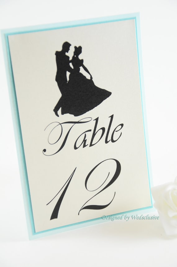 Cinderella Table Numbers Disney theme weddings Fairy tale