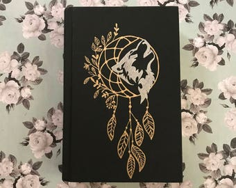 New Moon Defaced Book Wolf and Dreamcatcher