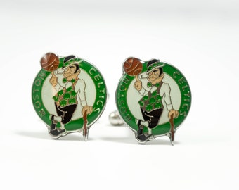Boston Celtics Cuff Links -- FREE SHIPPING with USPS First Class Domestic Mail