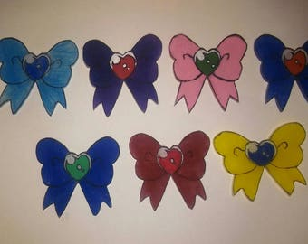 Sailor scout inspired bow pin