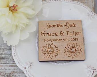 Sunflower Wedding Magnet Sunflower Wedding Invite Sunflower Magnet Sunflower Save the date Sunflower Save the Date Magnet Wedding Favor