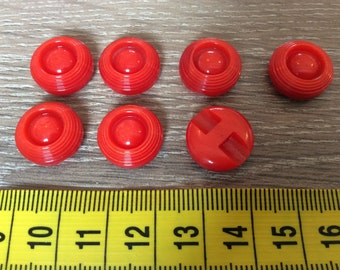 Vintage Buttons Red