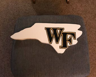 Wake Forest Wooden Sign