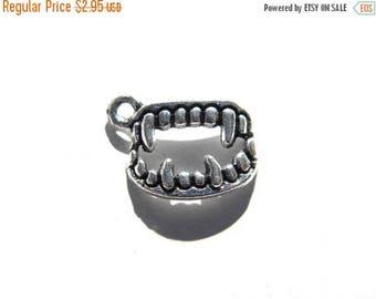 HALF PRICE 6 Silver Monster Teeth Charms