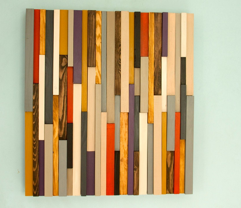 Wood Wall Art Sculpture 3D Abstract Wood Sculpture, reclaimed wall ...