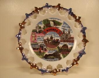 Beautiful Vintage SOUVENIR Quebec CANADA PLATE