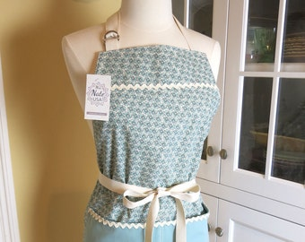Pixie Blue Apron, Apron for Women, Womens Apron, Farmhouse Apron, Cute Apron, Vintage Apron, Chefs Apron, Full Apron, Mothers Day Gift