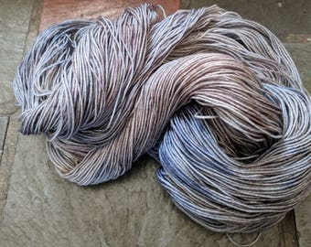 Yarn, Hand dyed yarn, Blue Yarn,Brown Yarn,  Superwash Merino/Nylon,Sock Yarn, Knitting Yarn, Crochet Yarn - Winterscape Forest