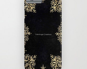 Phone Case, 18 Styles Available! Black and Gold Filigree - iPhone, iPod, & Samsung Galaxy!
