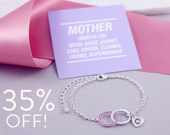 Funny Card for Mom | Birthstone Bracelets | Delicate Bracelet | Infinity Bracelet | Moms Day Thanks Card | Funny Love Card | Zodiac Jewelry