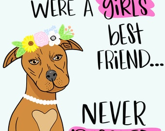 Whoever Said Diamonds Were A Girl's Best Friend Never Rescued A Dog Floral Girly Printable Wall Art