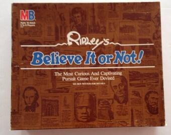 Vintage 1984 Ripley's BELIEVE IT or NOT game by Milton Bradley