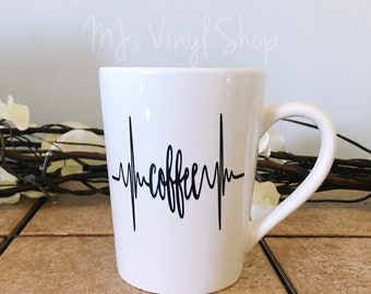 Coffee hearbeat mug