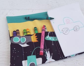 Ready to ship gifts etsy valentines kids boys astronaut crayon roll up boy easter gift astronaut gifts for negle