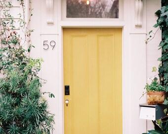 Yellow Door in Charleston