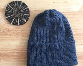 The Sierra beanie | double brim knit hat, double brim beanie, winter hat, knitted beanie, double brim
