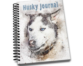 Husky Journal: 150 lined pages journal and notebook | 8x10 inches | Dog Lovers | Husky