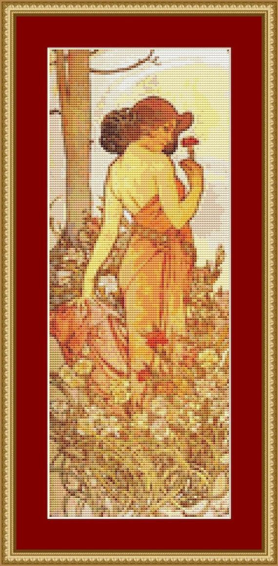 Carnation Cross Stitch Pattern /Digital PDF Files /Instant downloadable