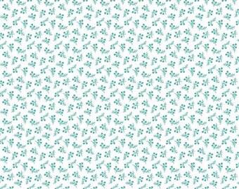 1 YARD 2 Inches LEFT! Bree Collection Aqua Berry Dot by Nancy Halvorsen Licensed for Benartex #02135-24 100% Cotton