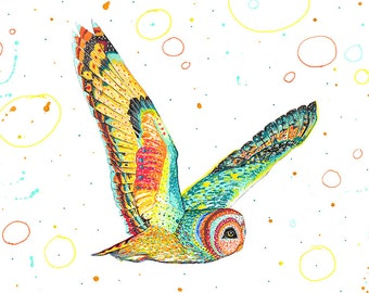 Owl // A5 print