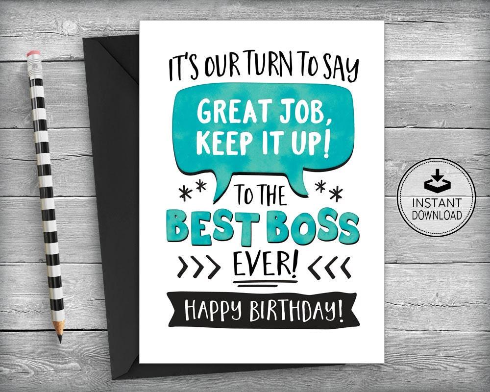 Boss birthday card card for boss boss appreciation card zoom kristyandbryce Gallery