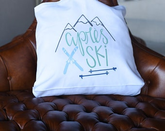 Après Ski Mountain Tote, Ski Mountain Wedding Favors, Ski Bachelorette Favors, Ski Gifts