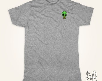 Alien with Pizza T Shirt