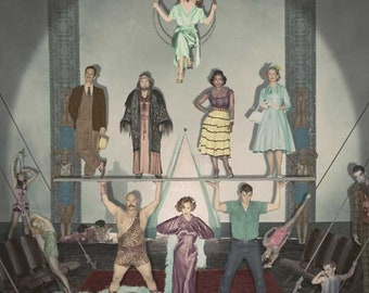 American Horror Story: Freak Show 11 x 17 TV show poster Jessica Lange Evan Peters lobster boy Sarah Paulson conjoined twins Emma Roberts