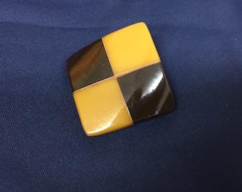 Square Art Deco Bakelite Button