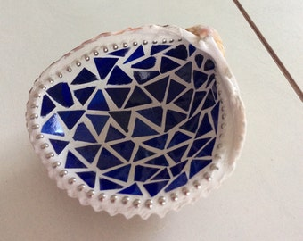 Mosaic Shell Jewelry Dish