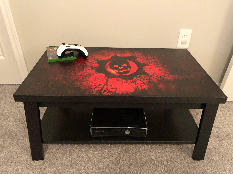 Gears of War Xbox Custom Video Game Coffee Table