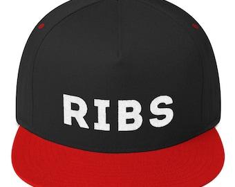 RIBS HAT Flat Bill Cap