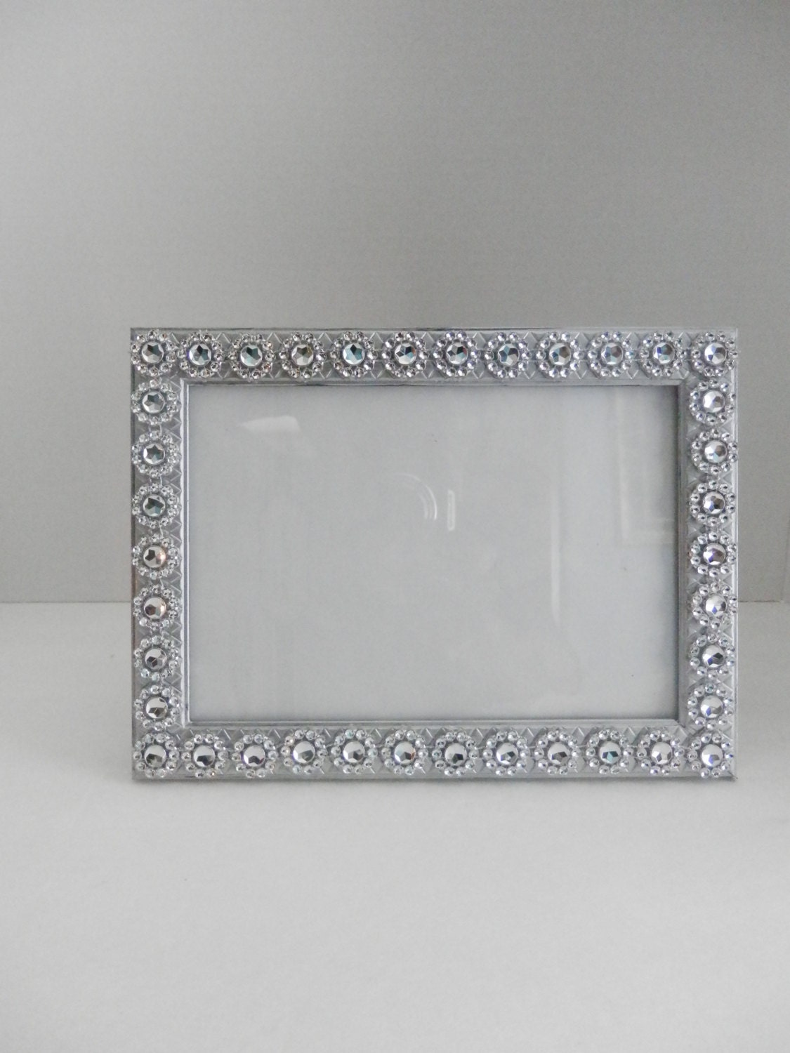 Wedding picture frame 5x7 and 4x6 silver wedding picture