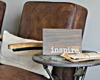 Inspire Mini Motivational Wall Decor- Dorm Room Decor - College Decor - Inspirational Wall Art- Motivational Quote- Inspirational Quote-