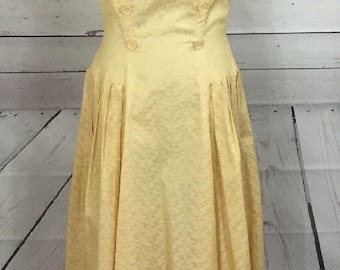 Vintage DeTrano Original by Georgette 1950's Yellow Day Dress