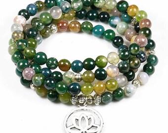 Stunning Tibetan 108 mala beads 6 mm Agate mala prayer, mantra, Buddhism