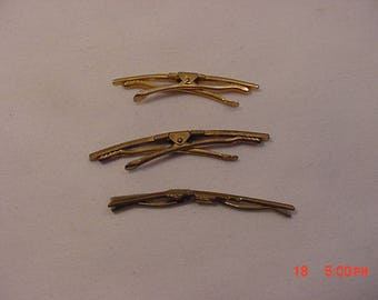 3 Vintage Shirt Collar Stays Bars Clips One Is A Rifle  18 - 136