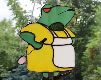 Mad Mama Frog Suncatcher, Wall Decoration