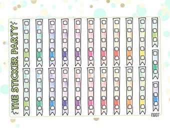 Doodle Watercolor Checklist Planner Stickers