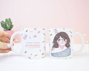 Custom Portrait - Custom Illustrated Mug - Custom Portrait Mug - Personalised Mug - Custom Illustration - Unique Gift Ideas - Birthday Gift