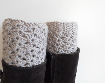 Crochet boot cuffs for her, lace boot cuffs, boot toppers crochet, crochet boot cuffs,