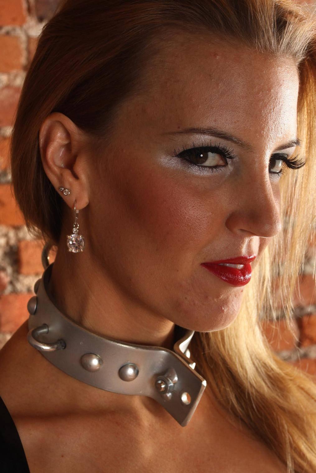 Terginum Bdsm Dungeon Metal Collar Necklace Necklace Necklace-9923