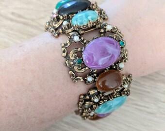 Chunky Vintage Colorful Bracelet