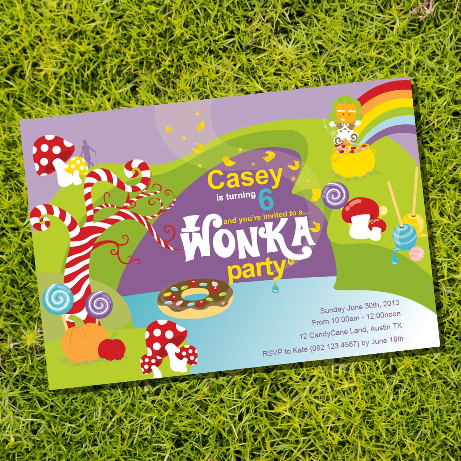 Willy Wonka Birthday Party Invitation Instantly Downloadable