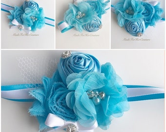 Blue Corsages, Blue Wrist Flower, Wrist Corsage, Wedding Corsage, blue white  Corsage, Ivory Corsage, Wedding Wrist Band, Wedding corsage