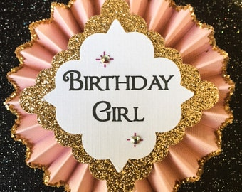 Birthday Pin..Free Customization..Birthday Button..Birthday Girl