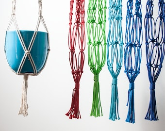 Macrame plant hanger, 100 cm - pick your colour!