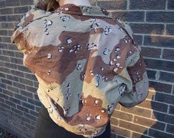 Chocolate chip camo cropped jacket